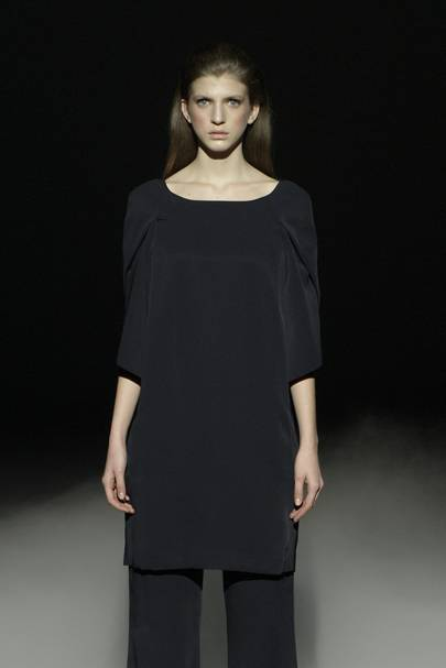 Chalayan Woman Gathered Wool Top Midnight Blue Size M Hussein Chalayan For Nice Cheap Many Kinds Of Cheap Limited Edition cujFYx
