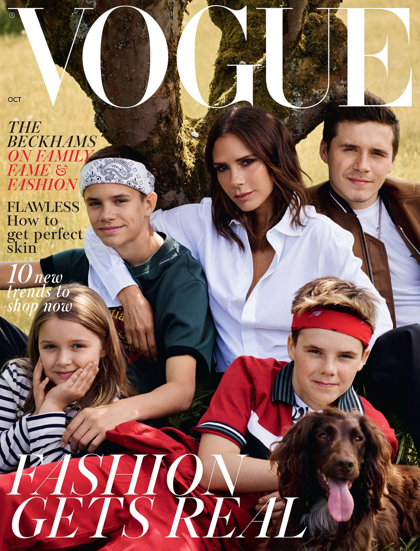 0c1a29874f7d0 The Beckhams Cover The October 2018 Issue Of British Vogue   British Vogue
