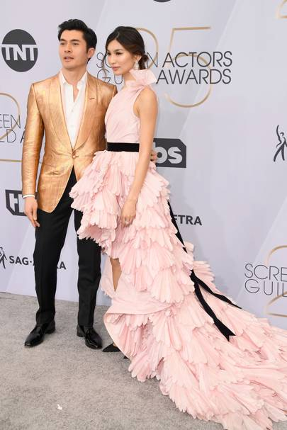 Gemma Chan and Henry Golding