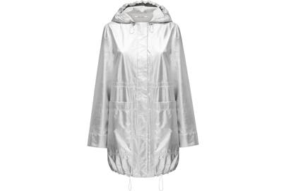 Paco Rabanne's parka references the brand's retro-futuristic heritage, while also being the perfect piece for standing out in the crowd at a music festival