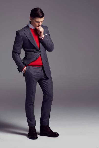 Jumper, £149; suit, £799