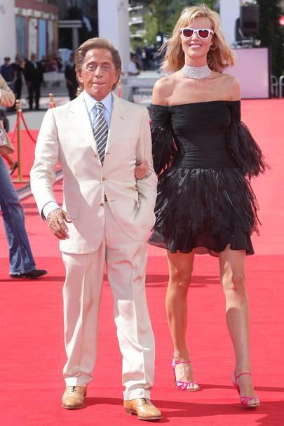 Valentino Garavani and Eva Herzigova