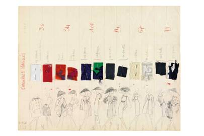 Fabric samples for the Yves Saint Laurent Haute Couture collection, Spring/Summer 1962