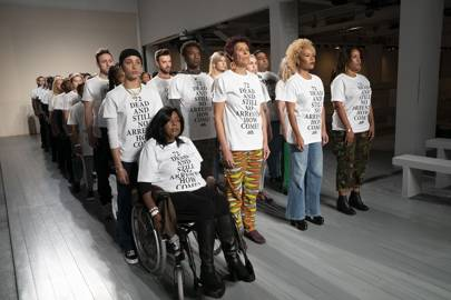 Adwoa Aboah And Other Activists Use LFW To Protest For Grenfell