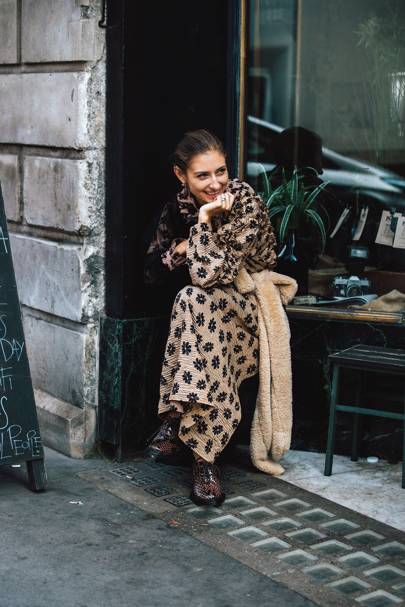 Uniform: The Day Dress And Shearling Stole