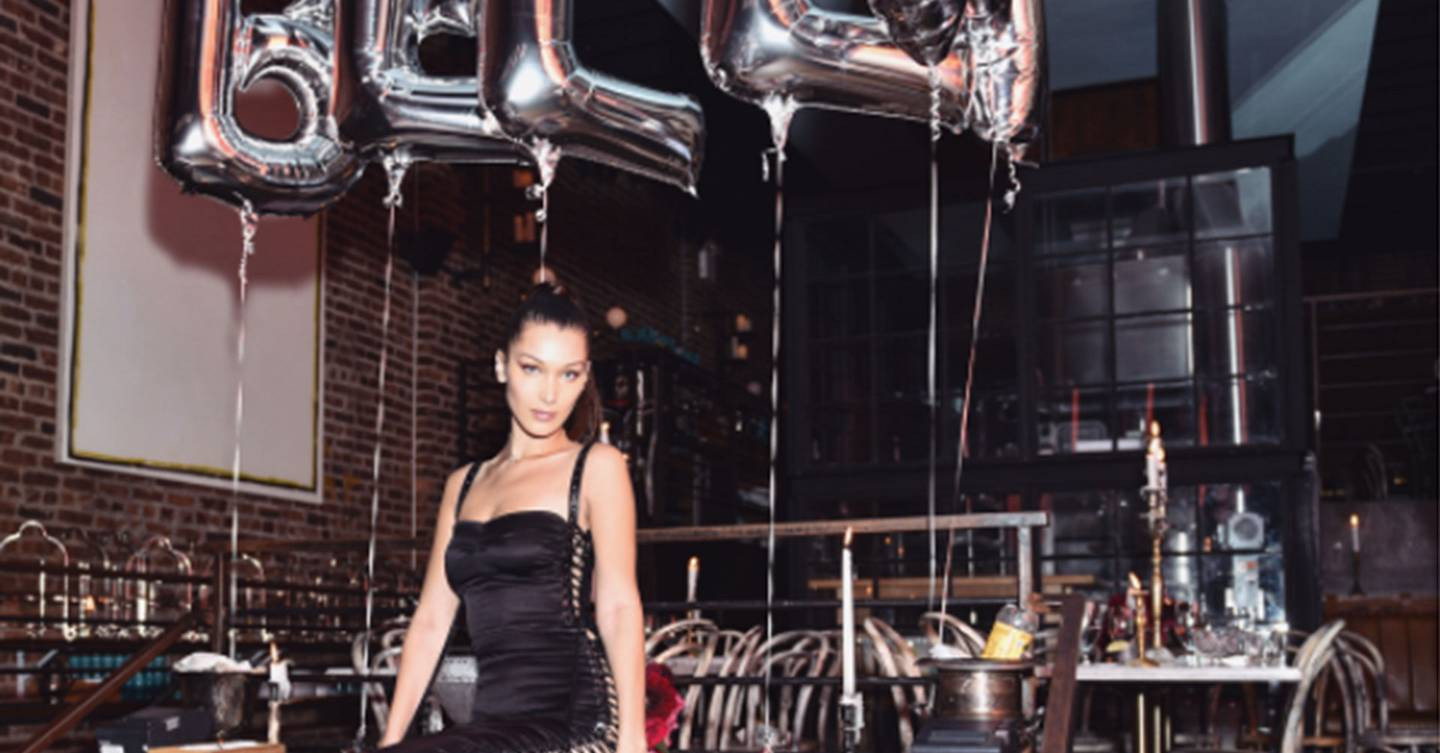 e4d81e8b70fa9c Bella Hadid Chooses A White And Black Dress For Two Opposing 21st Birthday  Looks