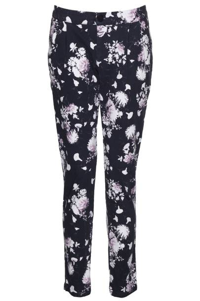 Floral print twill trousers, £45