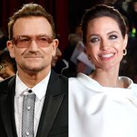 Bono and Angelina Jolie