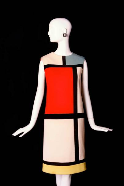 """The """"Homage to Piet Mondrian"""" dress, Yves Saint Laurent Haute Couture, Autumn/Winter 1965"""