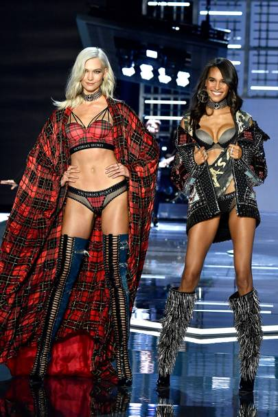 Karlie Kloss and Cindy Bruna