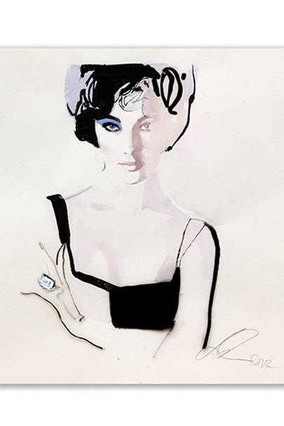 Elizabeth Taylor by David Downton, 2011