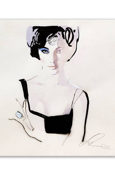 Elizabeth Taylor by David Downton, 2011
