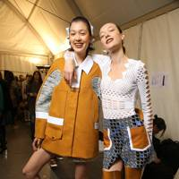 Backstage at Kenzo