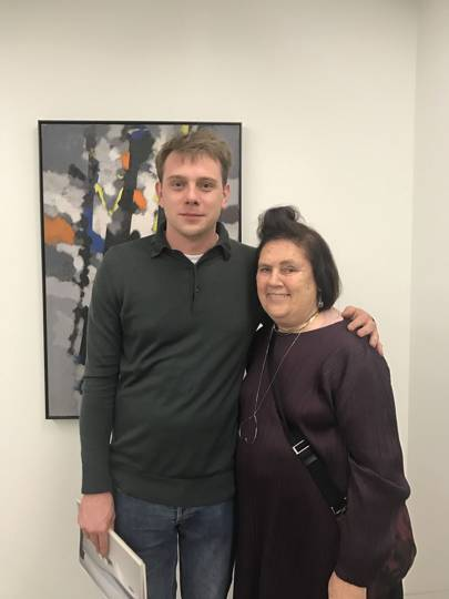 Suzy with Jonathan Anderson at the Hepworth Wakefield gallery.