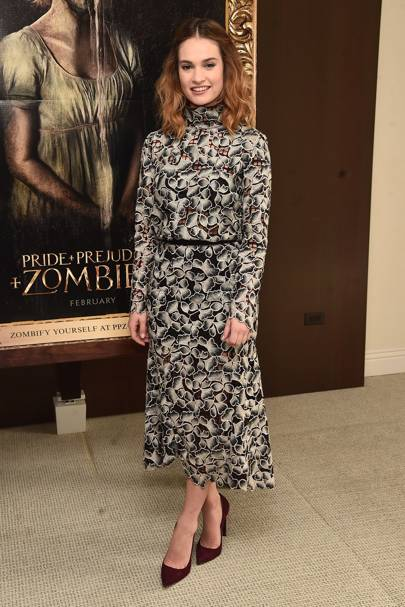 Pride And Prejudice And Zombies photo call, California - January 22 2016