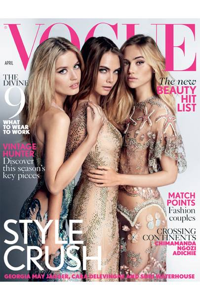 Vogue cover, April 2015