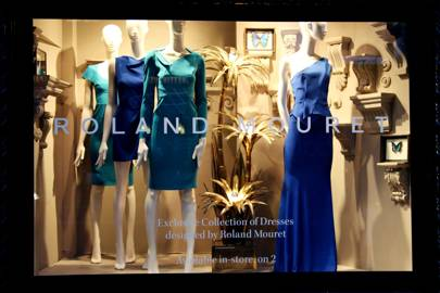 The Roland Mouret window display at Liberty