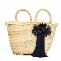 Uterque: tote bag with pompoms
