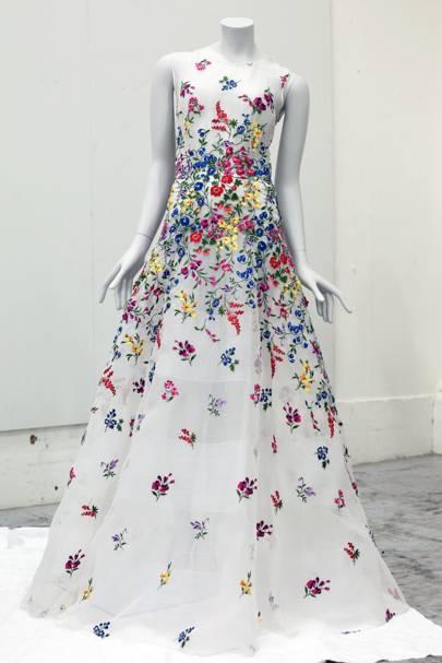 An Oscar de la Renta gown