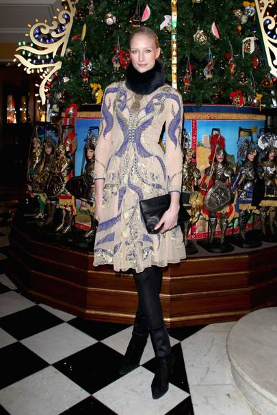 Dolce & Gabbana Claridge's tree unveiling, London - November 26 2013