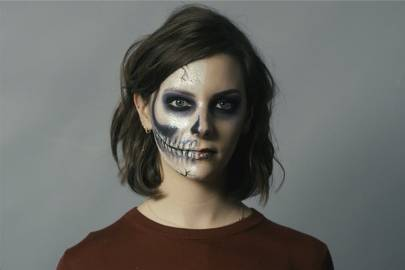 Easy Halloween Make-up: Glam Skull | British Vogue