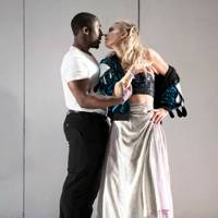 Eric Kofi Abrefa and Vanessa Kirby in Julie