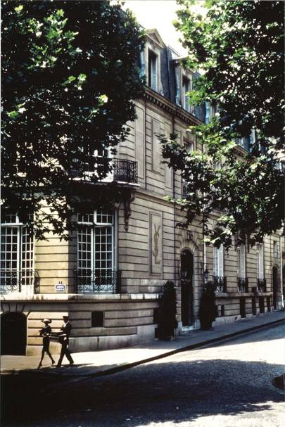 The façade of 5 Avenue Marceau in Paris in 1982, YSL's atelier, where the Musée Yves Saint Laurent will be housed