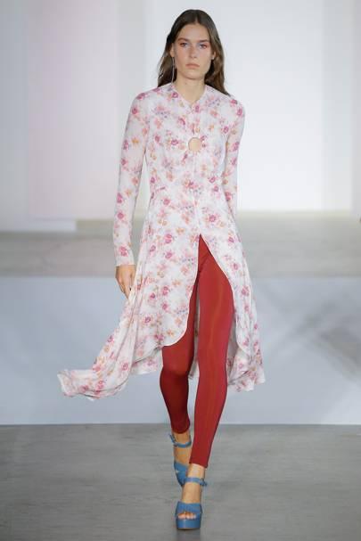 1. Smarten up a floral dress