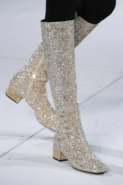 G is for: Glitter boots