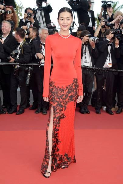 Liu Wen in custom Givenchy