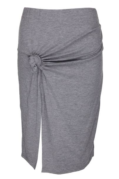 Grey marl knotted skirt, £35