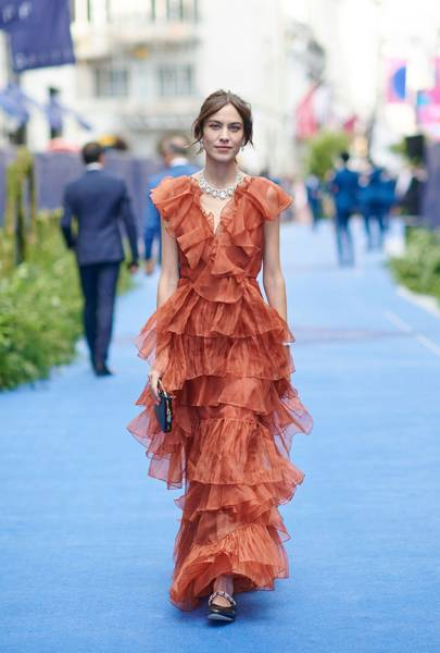 "Alexa Chung Is A ""Diamond In The Ruffle"" At London's Chopard Party"
