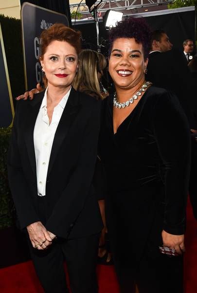 Rosa Clemente and Susan Sarandon