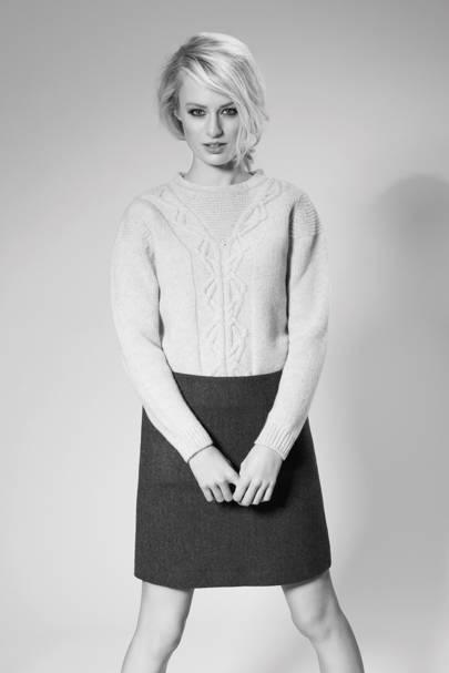 Jumper, £129; skirt, £69