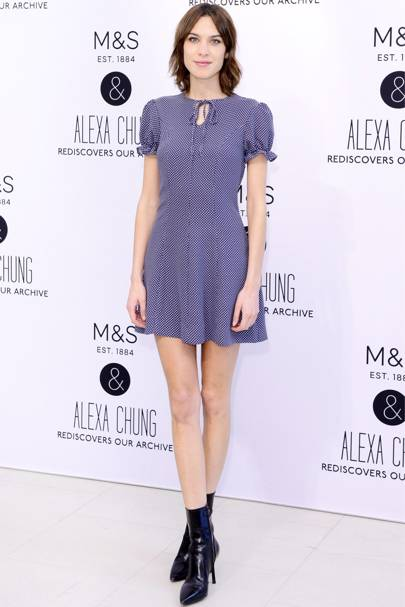 Archive by Alexa Chung M&S collection launch, London - April 13 2016