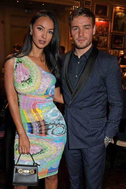 Maya Jama Has A Moment Of All-Out Versace Glamour At LFW Men's