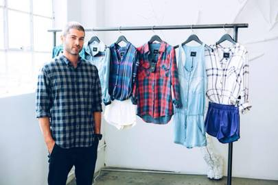 Rails Founder Jeff Abrams With A Selection Of The Brand's Shirts