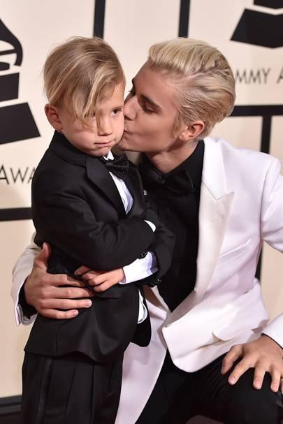 Justin Bieber & brother, Jaxon