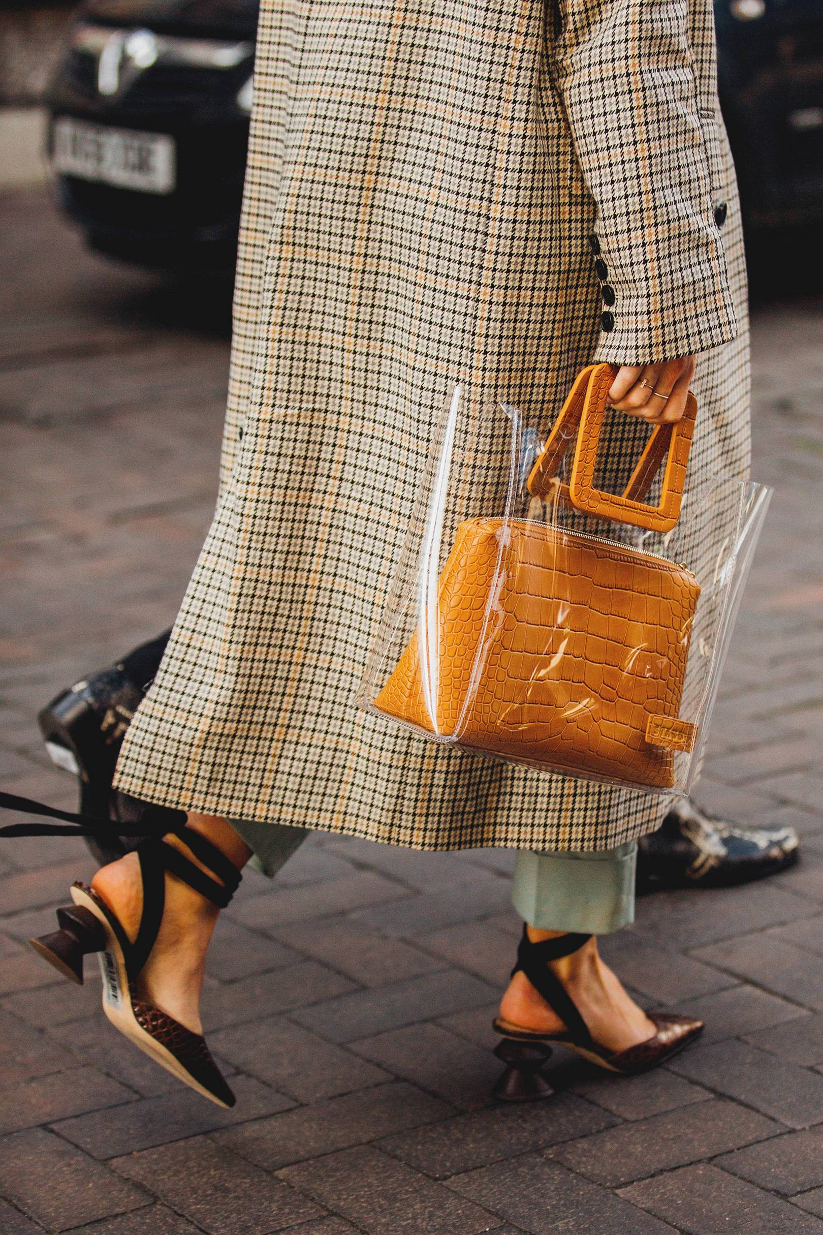 26a2d8841dfb79 Street Style: How To Wear A Clear Bag | British Vogue