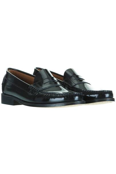 Black loafers, £70