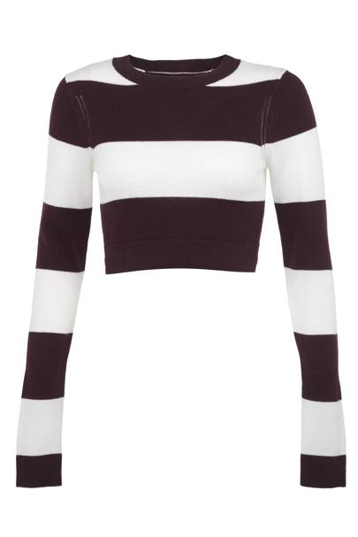Striped cropped jumper, £35