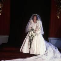 That silk taffeta wedding dress by David and Elizabeth Emanuel (July 1981)