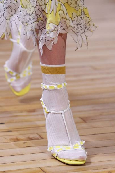 Update your summer sandals with silk gym socks