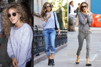 Sarah Jessica Parker's grey sweatshirt