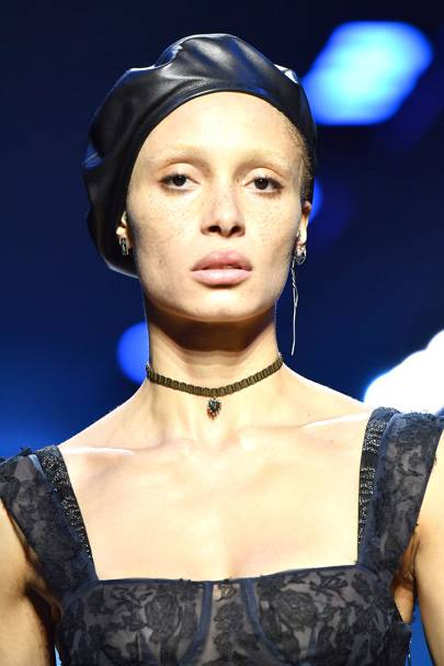 The Black Leather Beret
