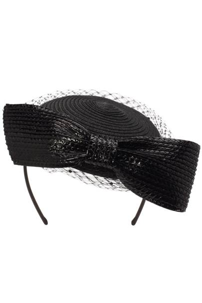 Straw bow headpiece, £65