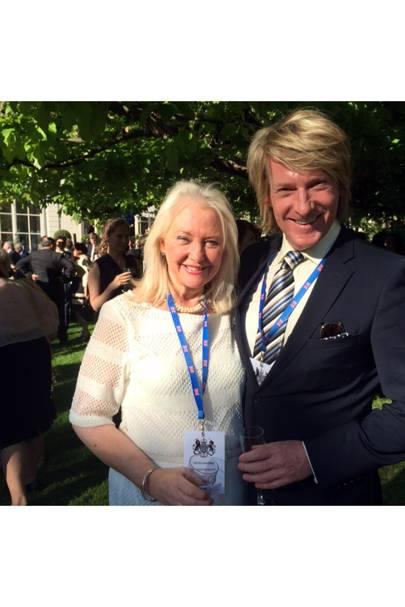 Royal dressmaker Angela Kelly with Royal hairdresser Ian Carmichael