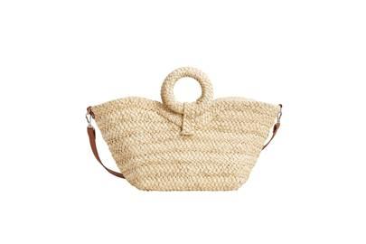 Mango: raffia basket bag