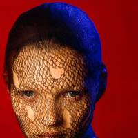 Kate Moss in a torn veil, 1993, Albert Watson