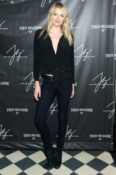 Joan Smalls True Religion Collection party, New York - March 18 2015